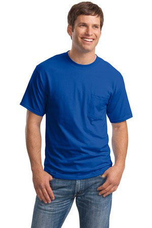 2019 factory price look for footwear Hanes Beefy-T - 100% Cotton T-Shirt with Pocket. 5190 At ...